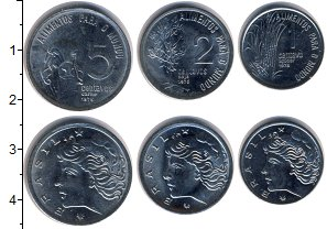 Изображение Наборы монет Бразилия Бразилия 1975 1975  UNC