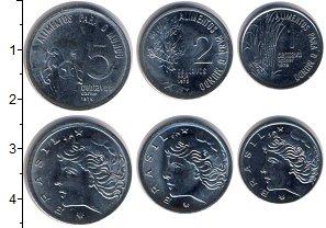 Изображение Наборы монет Бразилия Бразилия 1975 1975  UNC В наборе 3 монеты но