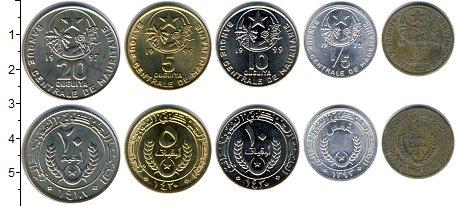 Изображение Наборы монет Мавритания Мавритания 1973-1999 0  XF В наборе 5 монет ном