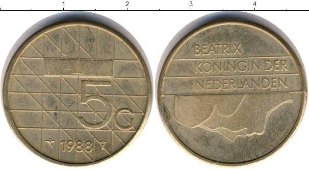 Картинка Дешевые монеты Нидерланды 5 центов  1988