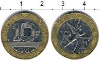 Изображение Дешевые монеты Франция 10 франков 1991