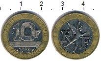 Изображение Дешевые монеты Франция 10 франков 1989