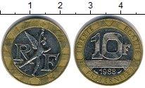 Изображение Дешевые монеты Франция 10 франков 1988