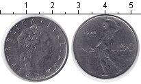 Изображение Дешевые монеты Италия 50 лир 1963