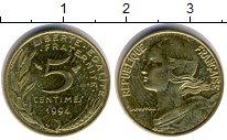 Изображение Барахолка Франция 5 сантимов 1994