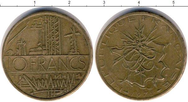 Картинка Дешевые монеты Франция 10 франков  1978