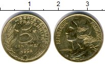 Изображение Дешевые монеты Франция 5 сантим 1998