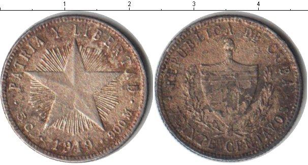 Картинка Монеты Куба 20 сентаво Серебро 1949
