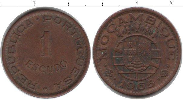 Картинка Монеты Мозамбик 1 эскудо Медь 1965