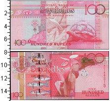 Изображение Банкноты Сейшелы 100 рупий 2013  UNC