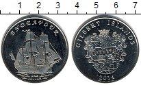 Изображение Мелочь Кирибати 1 доллар 2014 Медно-никель UNC Острова Гилберта