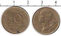 Изображение Дешевые монеты Франция 10 сантим 1989 Медь XF