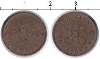 Изображение Дешевые монеты Финляндия 5 пенни 1963 Медь VF