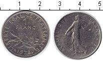 Изображение Дешевые монеты Франция 1 франк 1978