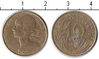 Изображение Дешевые монеты Франция 10 сантим 1976 Медь VF