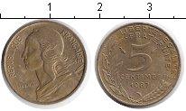 Изображение Дешевые монеты Франция 5 сантим 1987