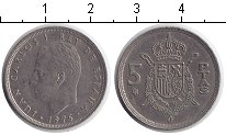 Изображение Дешевые монеты Испания 5 песет 1978 Медно-никель XF