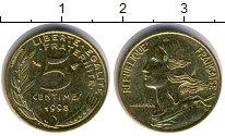 Изображение Барахолка Франция 5 сантимов 1998 Медь XF