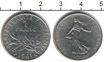 Изображение Дешевые монеты Не определено 1 франк 1961