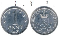 Изображение Дешевые монеты Нидерланды Антильские острова 1 цент 1980