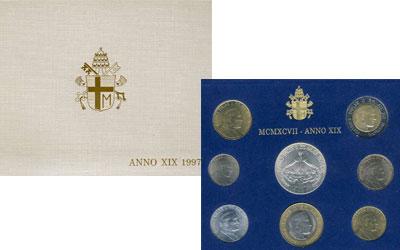 Изображение Подарочные наборы Ватикан 1.997 ANNO XIX 1997   В наборе 8 монет: 10