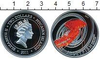 Изображение Монеты Острова Питкэрн 2 доллара 2011 Серебро Proof- Обитатели морских гл