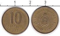 Изображение Барахолка Аргентина 10 сентаво 1993 Медь XF