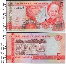 Изображение Банкноты Гамбия 5 даласи 0  UNC