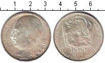 Изображение Монеты Чехословакия 100 крон 1977 Серебро XF Вацлав Голлар.