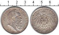 Изображение Монеты Бавария 3 марки 1911 Серебро XF 90 лет со дня рожден