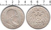 Изображение Монеты Вюртемберг 5 марок 1907 Серебро XF Вильгельм II. F