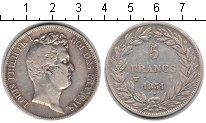 Изображение Монеты Франция 5 франков 1831 Серебро  Луи-Филипп I. W