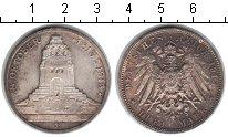 Изображение Монеты Саксония 3 марки 1913 Серебро XF 100-летие битвы под