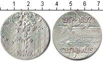 Изображение Монеты Финляндия 100 марок 1992 Серебро UNC 75-я годовщина незав