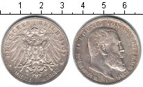 Изображение Монеты Германия Вюртемберг 3 марки 1909 Серебро XF