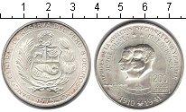 Изображение Монеты Перу 200 соль 1975 Серебро UNC Джордж Чавес - Хосе