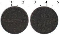 Изображение Монеты Германия Пруссия 3 пфеннига 1858 Медь VF