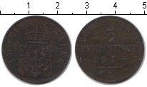 Изображение Монеты Пруссия 3 пфеннига 1859 Медь XF А