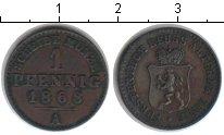 Изображение Монеты Рейсс-Оберграйц 1 пфенниг 1868 Медь XF