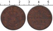 Изображение Монеты Пруссия 4 пфеннига 1864 Медь VF