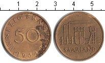 Изображение Монеты Саар 50 франков 1954  XF