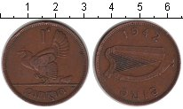 Изображение Монеты Ирландия 1 пенни 1942 Медь VF квочка