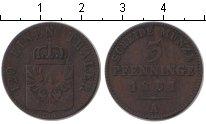 Изображение Монеты Германия Пруссия 3 пфеннига 1861 Медь VF