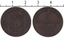 Изображение Монеты Пруссия 3 пфеннига 1861 Медь VF A
