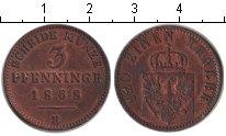 Изображение Монеты Пруссия 3 пфеннига 1868 Медь XF B