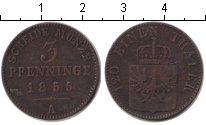Изображение Монеты Германия Пруссия 3 пфеннига 1855 Медь VF