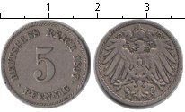 Изображение Монеты Германия 5 пфеннигов 1897 Медно-никель