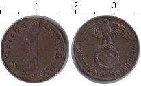 Изображение Монеты Третий Рейх 1 пфенниг 1940 Медь XF
