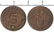 Изображение Монеты Третий Рейх 5 пфеннигов 1938 Медь VF
