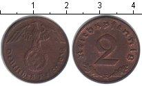 Изображение Монеты Третий Рейх 2 пфеннига 1938 Медь XF E